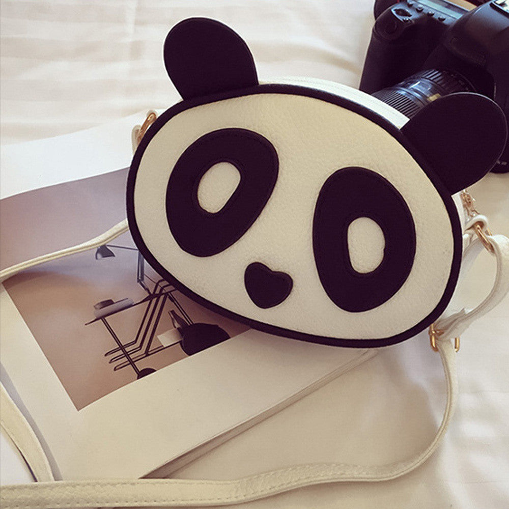 45acc9113f6d Women s Children Fashion Cute Panda Leather Handbag Crossbody Shoulder Bags
