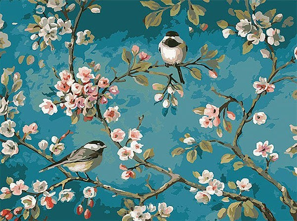 Birds on Cherry Blossom - iHeart DIY Painting By Numbers