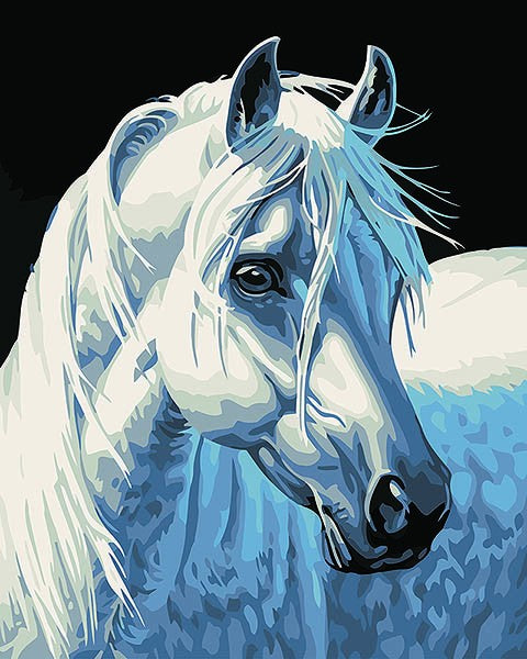 White Horse - iHeart DIY Painting By Numbers