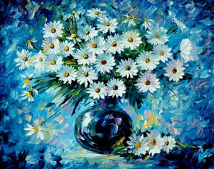 Blue Flowers - iHeart DIY Painting By Numbers