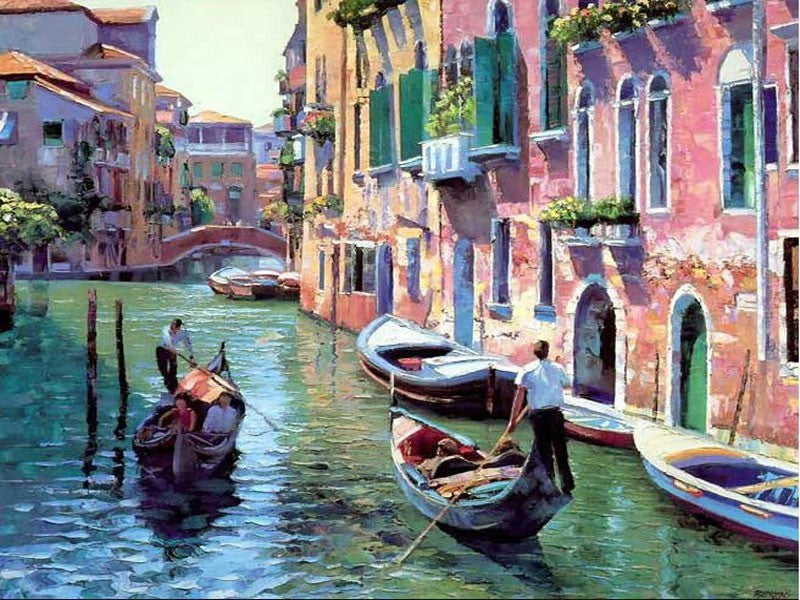 Boating in Venice - iHeart DIY Painting By Numbers