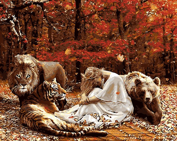Beauty with Beasts - iHeart DIY Painting By Numbers