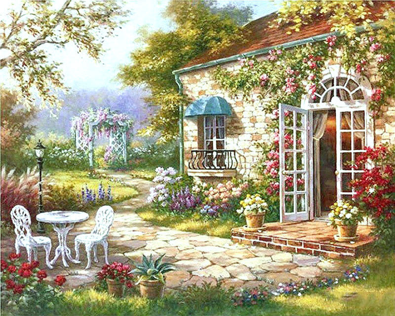 Garden House - iHeart DIY Painting By Numbers
