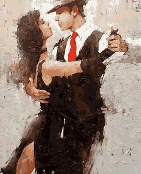 Dancer Couple - iHeart DIY Painting By Numbers