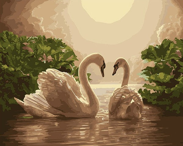 Swan Lover - iHeart DIY Painting By Numbers