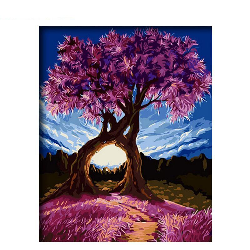 Romantic Trees - iHeart DIY Painting By Numbers
