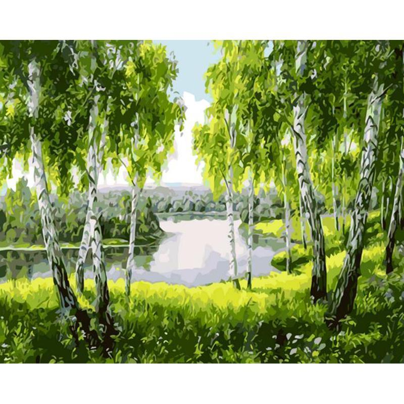 River in Forest - iHeart DIY Painting By Numbers