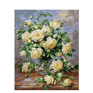White Roses - iHeart Paint By Numbers