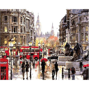 London Street - iHeart DIY Painting By Numbers