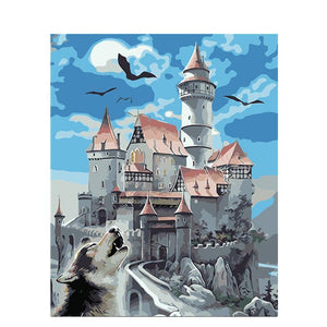 Wolf Castle - iHeart DIY Painting By Numbers