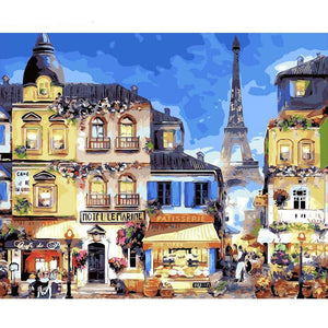 Paris City - iHeart DIY Painting By Numbers