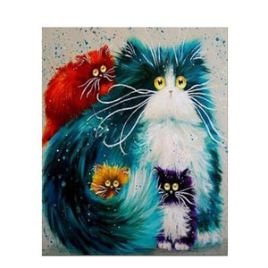 4 Colorful Cats