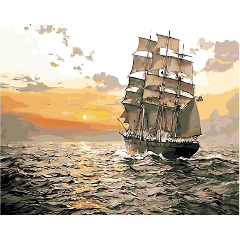 Sunset Sailing Paint By Numbers Kit