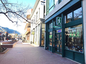 Pedestrian Shops on the Pearl St. Mall - Boulder, CO Shoe Store