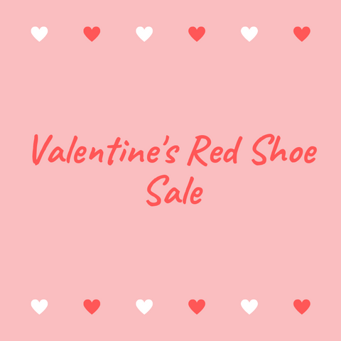 Valentine's Red Shoe Sale