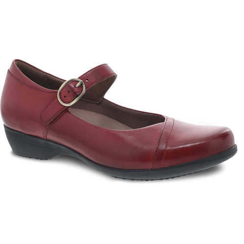 Dansko Fawna Mary Jane - Red Burnished Calf