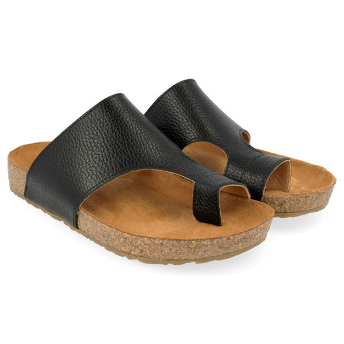 Haflinger Anka Sandal - Black Pebble