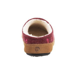 Acorn Geo Embroidered Hoodback Slipper - Garnet