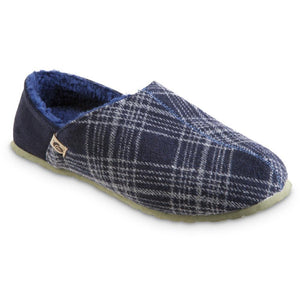 Acorn Parker Hoodback Slipper - Navy Plaid