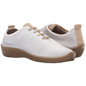 Arcopedico LS 1151 Lace Up - White / Beige pair