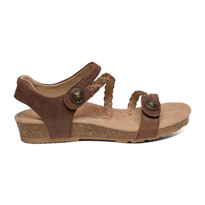 Aetrex Jillian Sandal - Dark Brown side