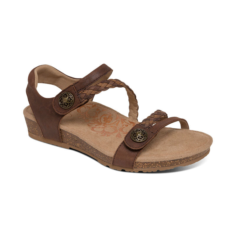 Aetrex Jillian Sandal - Dark Brown