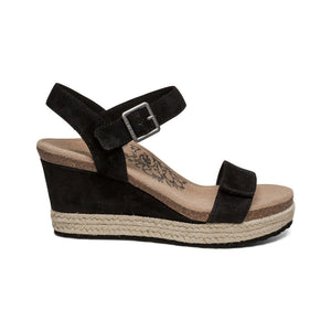 Aetrex Sydney Sandal - Black side