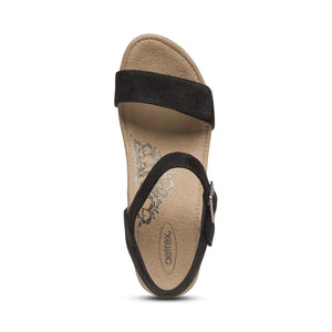 Aetrex Sydney Sandal - Black top