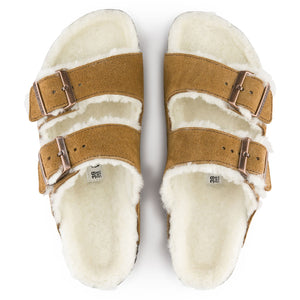 Birkenstock Arizona Shearling Sandal - Mink Top View