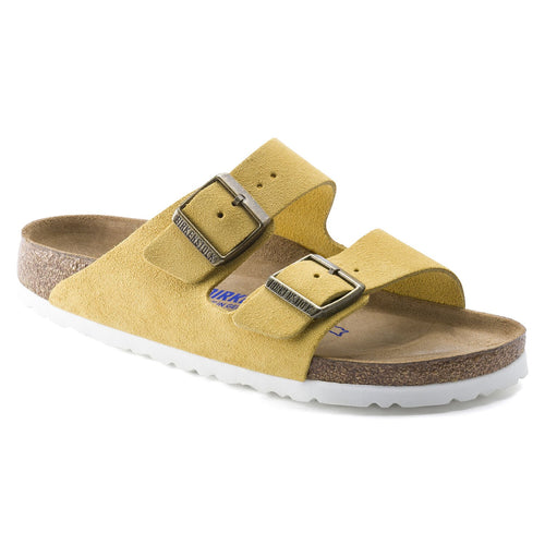 Birkenstock Arizona Soft Footbed Sandal - Ochre Suede