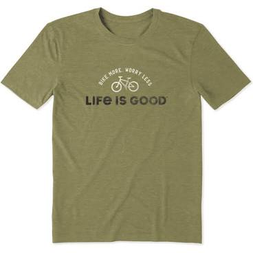 Life is Good Bike More Worry Less T-Shirt