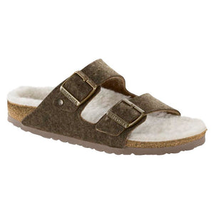 Birkenstock Arizona Happy Lamb Sandal - Double Face Khaki