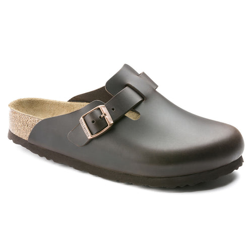 Birkenstock Boston Soft Footbed Clog - Testa Di Moro Amalfi Leather
