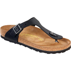 Birkenstock Gizeh Sandal - Black Oiled Leather