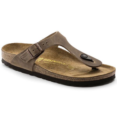 Birkenstock Gizeh Leather Sandal - Tobacco Oiled Leather