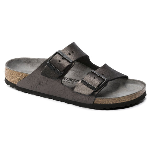 Birkenstock Arizona - Washed Metallic Antique Black