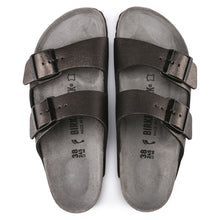 Birkenstock Arizona - Washed Metallic Antique Black  Top View