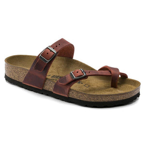 Birkenstock Mayari Sandal - Earth Red Oiled Leather