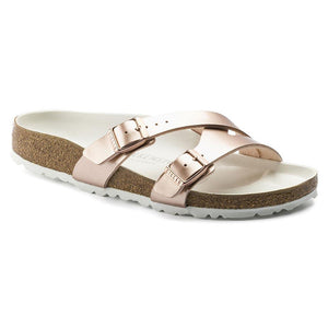 Birkenstock Yao Lux Sandal - Electric Metallic Copper Birko-Flor