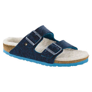 Birkenstock Arizona Happy Lamb Sandal - Double Face Blue