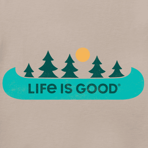 Life is Good Women's Canoe Landscape T-Shirt