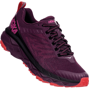 Hoka One One Challenger ATR 5 Italian Plum/Poppy Red Slight Right