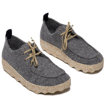 Asportuguesas Chat Tweed Lace Up - Concrete