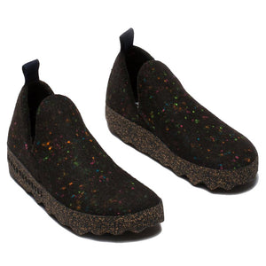 Asportuguesas City LED Wool Slip On - Black