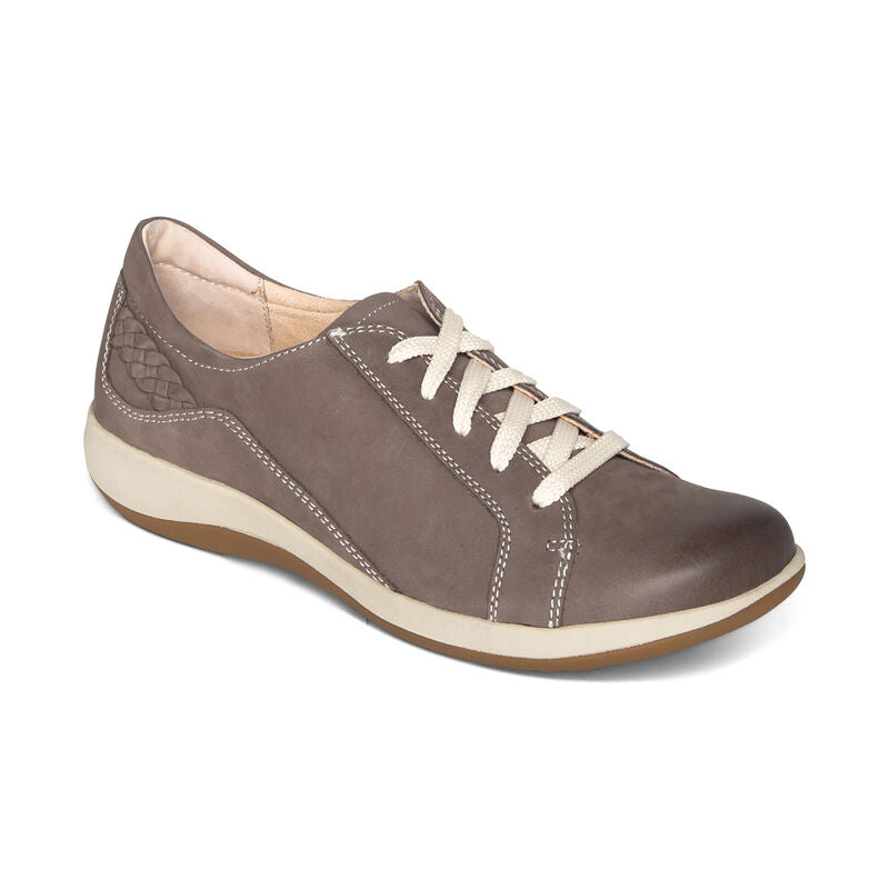 Aetrex Dana Oxford Warm Grey Slight Right