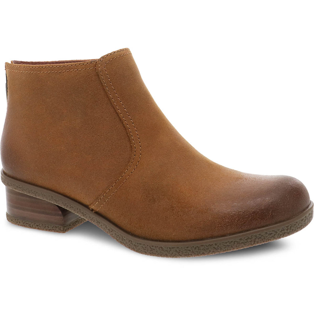Dansko Becki Ankle Boot - Tan Waterproof Suede