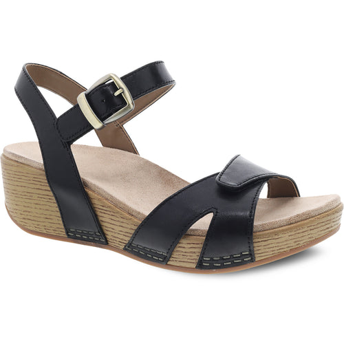 Dansko Laurie Sandal - Black Burnished Calf