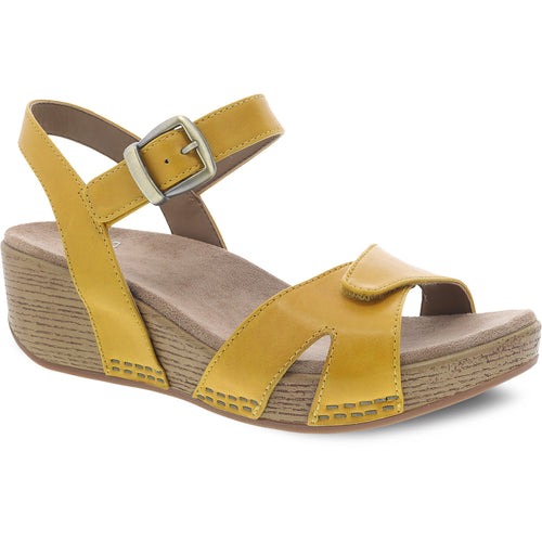 Dansko Laurie Sandal - Yellow Burnished Calf
