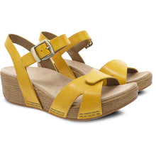 Dansko Laurie Sandal - Yellow Burnished Calf Pair