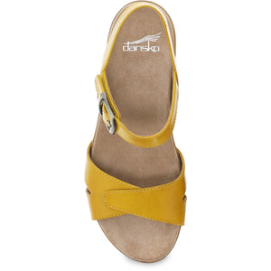 Dansko Laurie Sandal - Yellow Burnished Calf Top